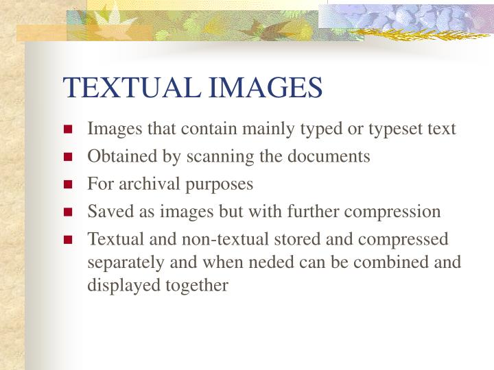 TEXTUAL IMAGES