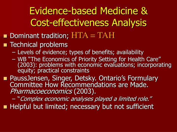 Evidence-based Medicine &