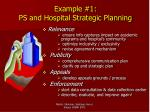 example 1 ps and hospital strategic planning
