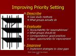 improving priority setting