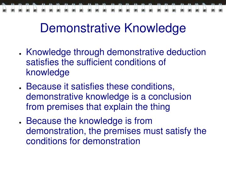 Demonstrative Knowledge