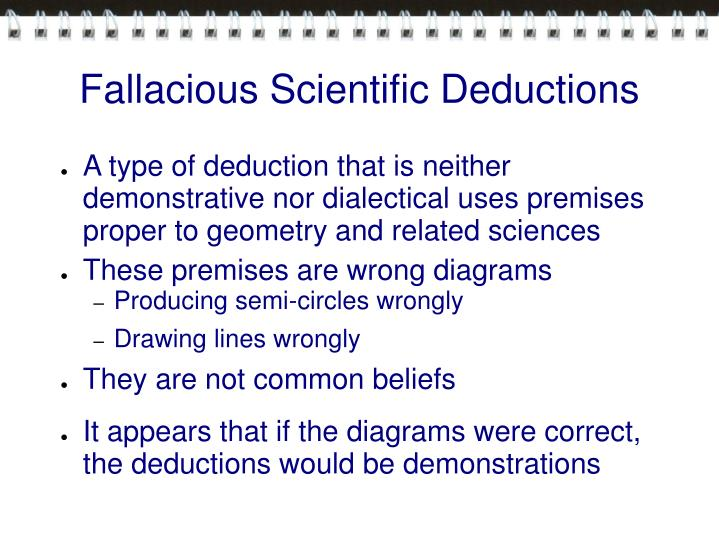 Fallacious Scientific Deductions