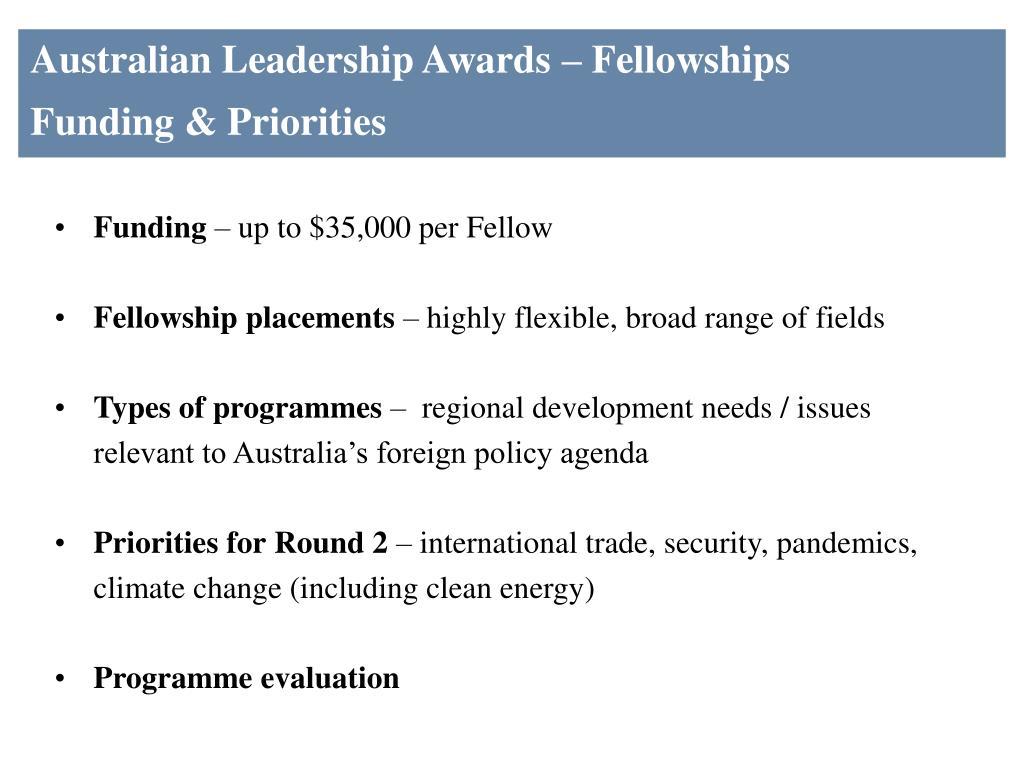 Australian Leadership Awards – Fellowships