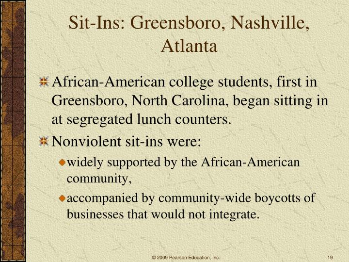 Sit-Ins: Greensboro, Nashville, Atlanta