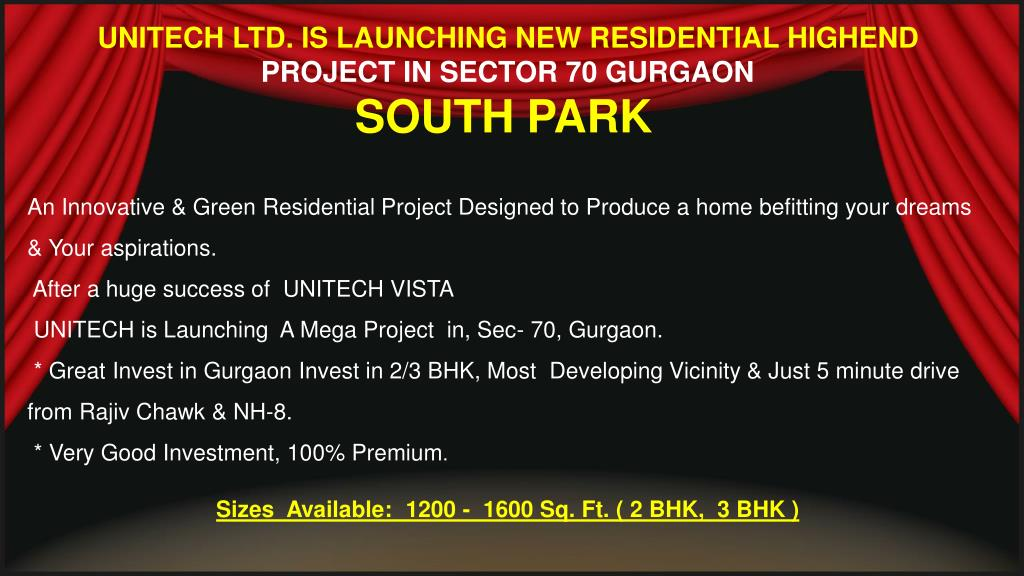 UNITECH LTD. IS LAUNCHING NEW RESIDENTIAL HIGHEND