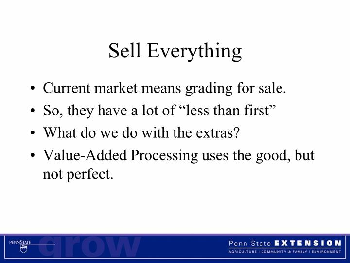 Sell Everything