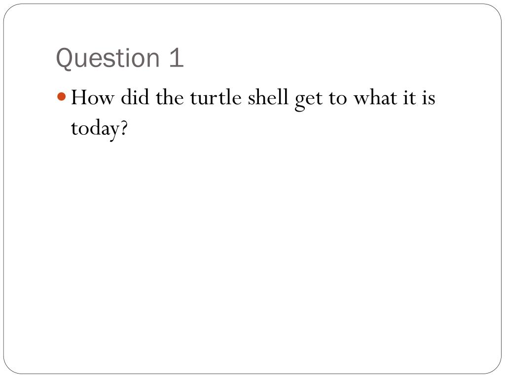 Question 1