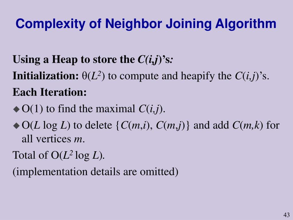 Complexity of Neighbor Joining Algorithm
