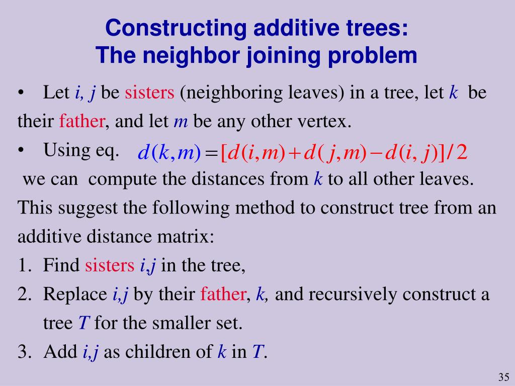 Constructing additive trees: