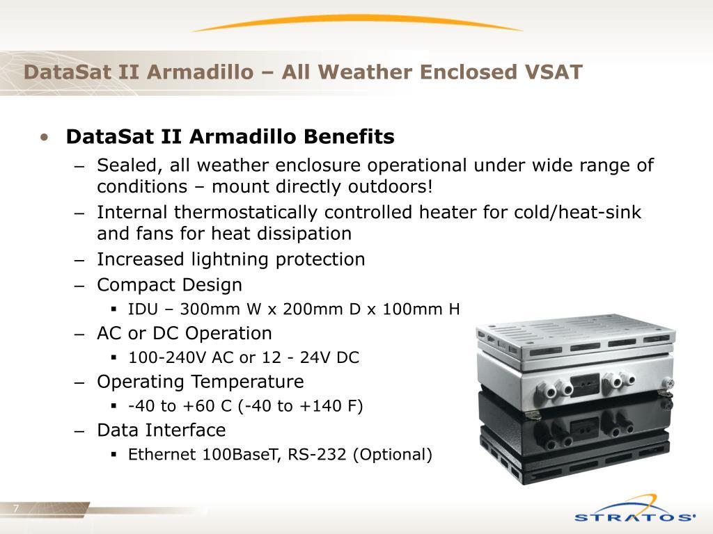 DataSat II Armadillo – All Weather Enclosed VSAT