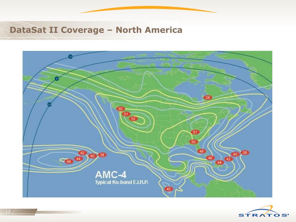 DataSat II Coverage – North America