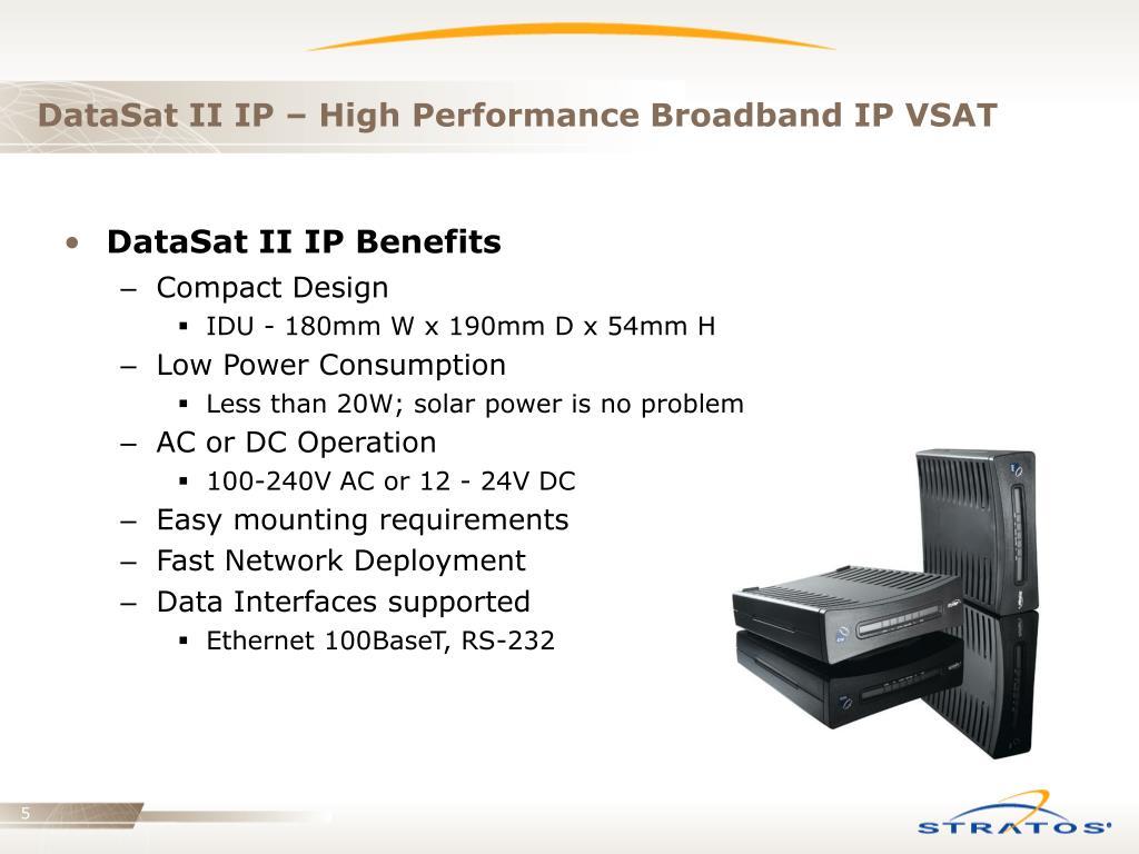 DataSat II IP – High Performance Broadband IP VSAT