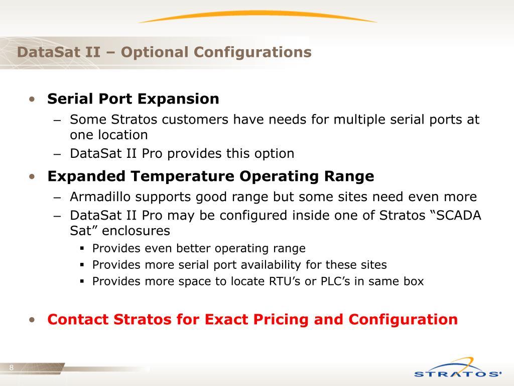 DataSat II – Optional Configurations