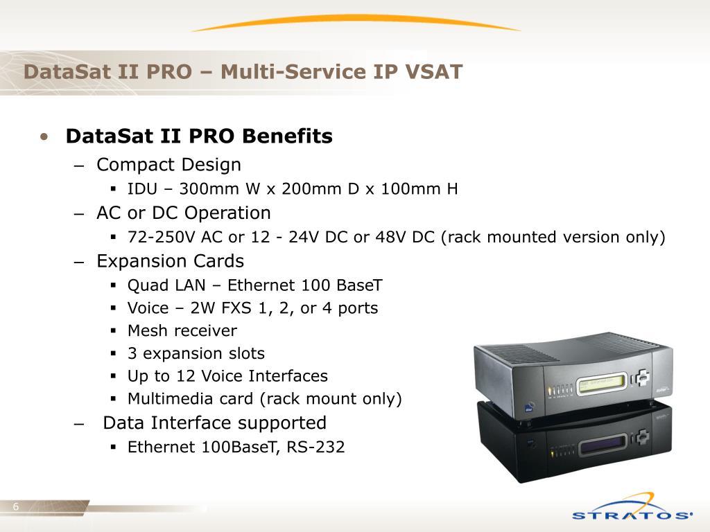 DataSat II PRO – Multi-Service IP VSAT