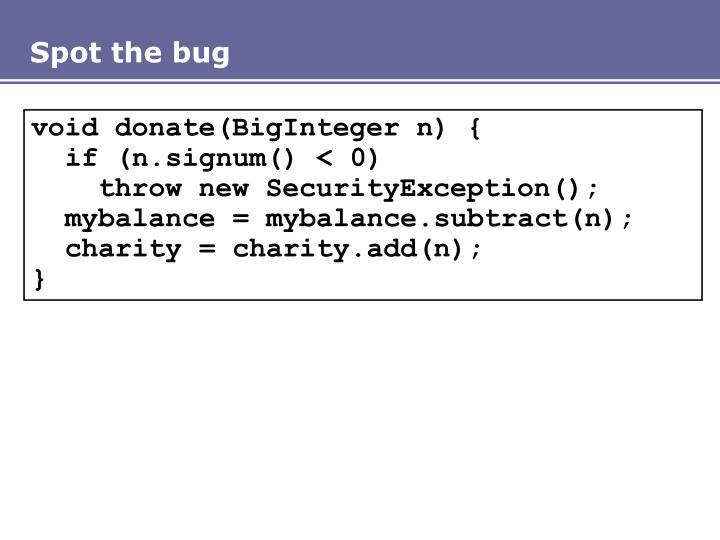 Spot the bug