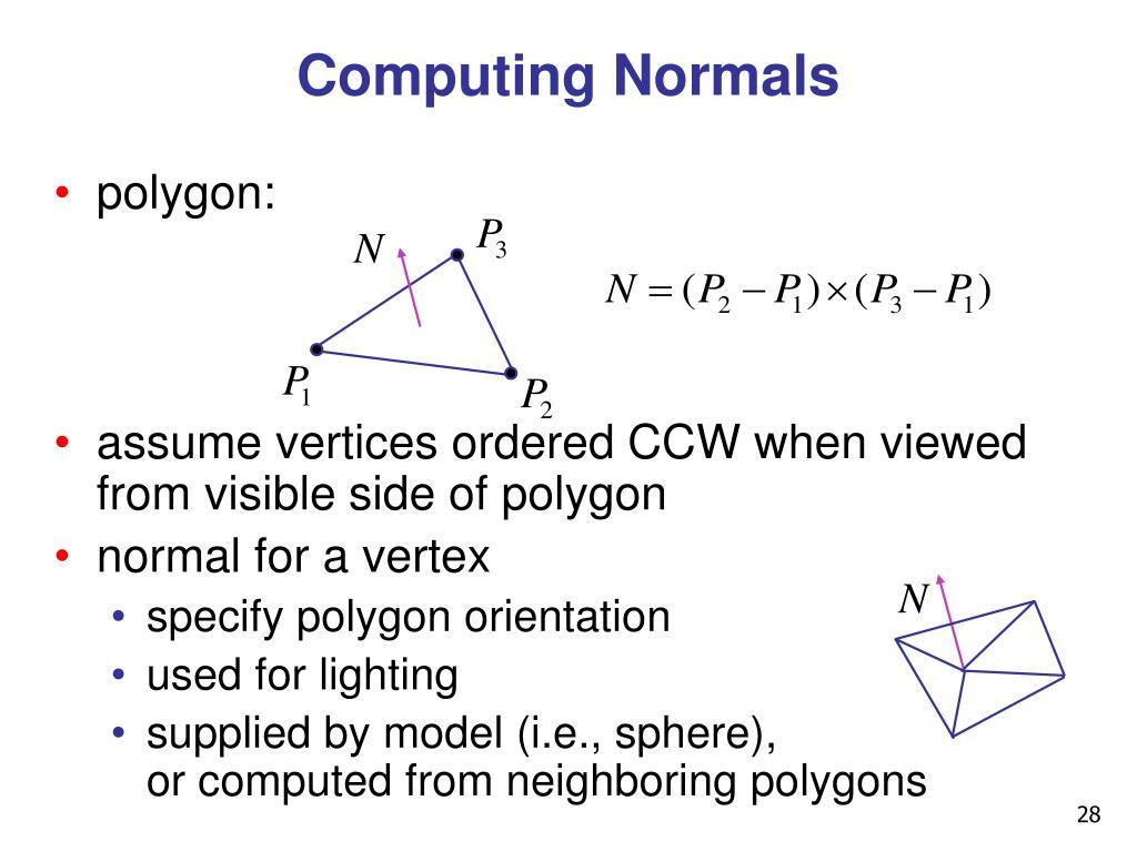 Computing Normals