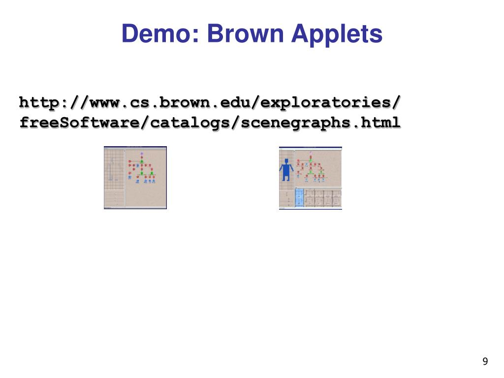 Demo: Brown Applets