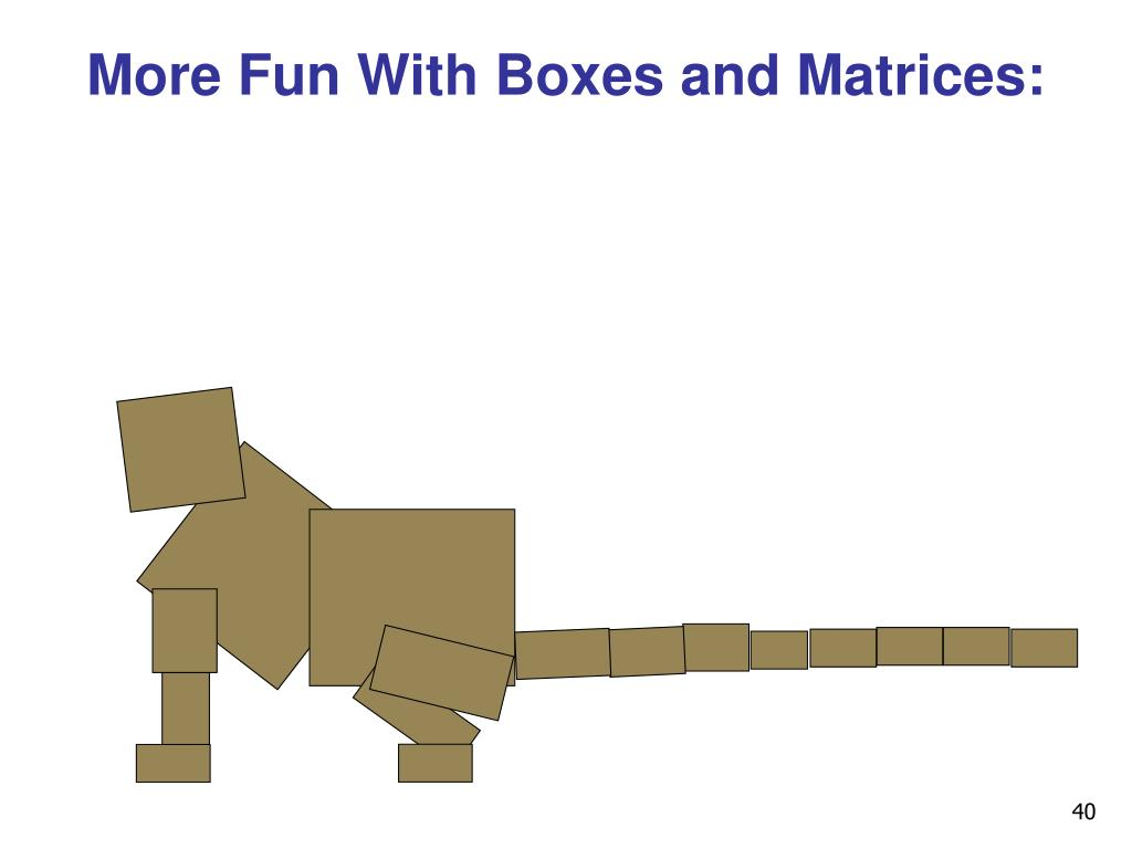 More Fun With Boxes and Matrices: