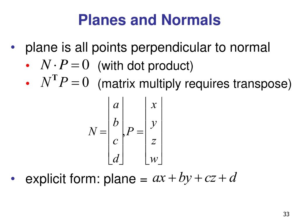 Planes and Normals