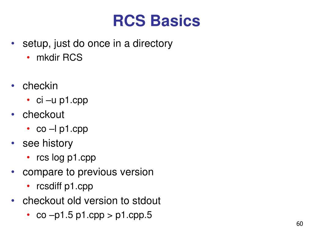 RCS Basics