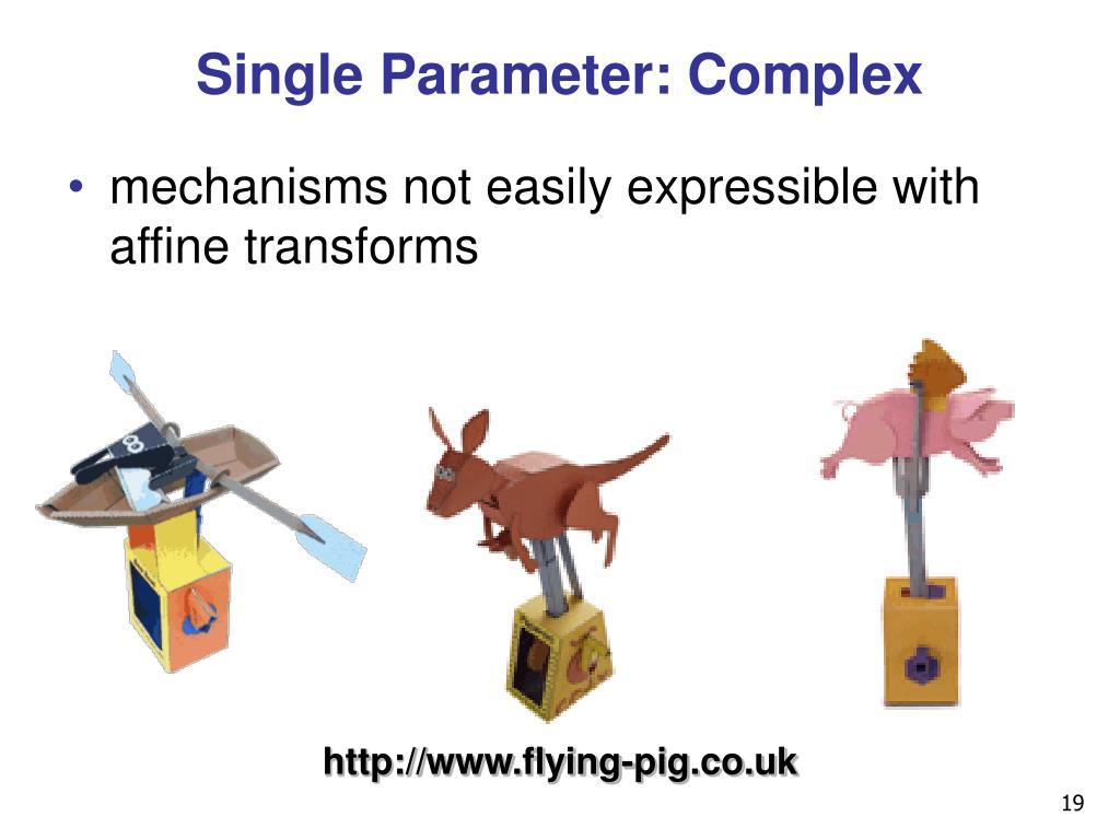 Single Parameter: Complex