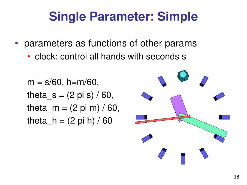 Single Parameter: Simple