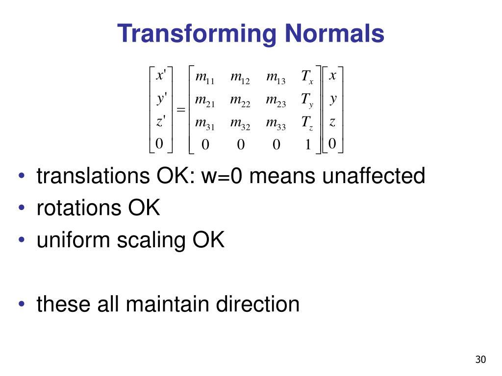 Transforming Normals