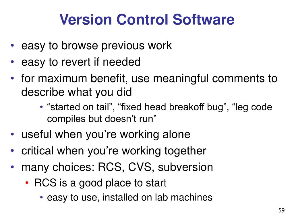 Version Control Software