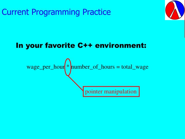 Current programming practice