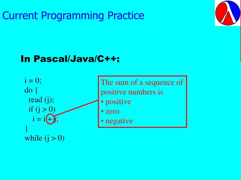 Current Programming Practice