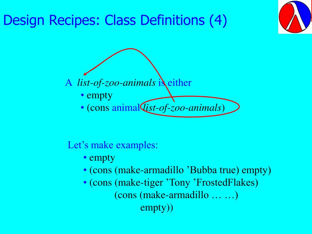 Design Recipes: Class Definitions (4)
