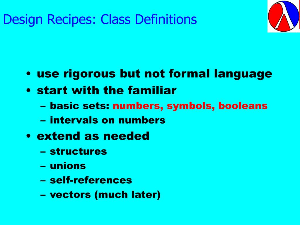 Design Recipes: Class Definitions