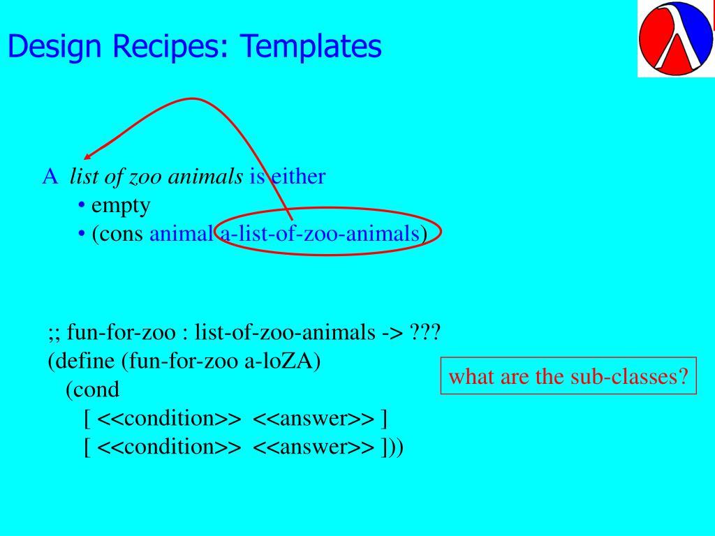Design Recipes: Templates