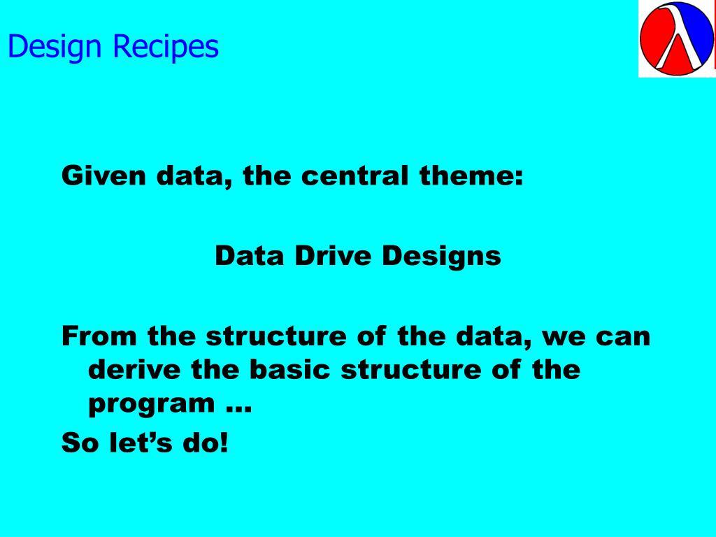 Design Recipes