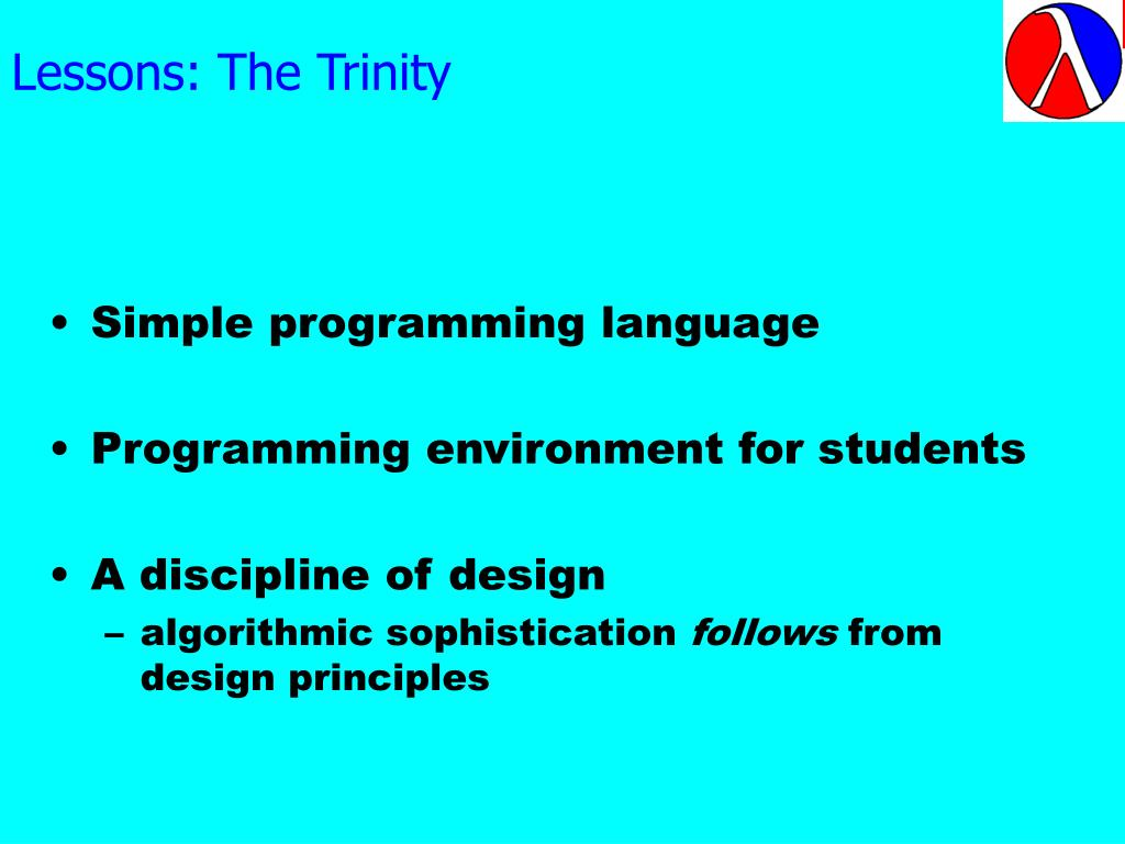 Lessons: The Trinity