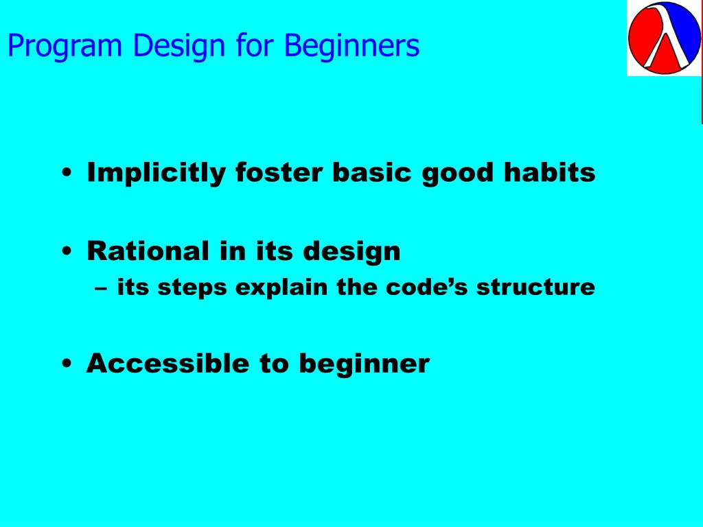 Program Design for Beginners