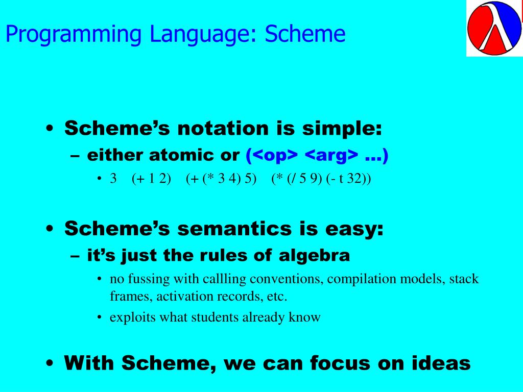 Programming Language: Scheme
