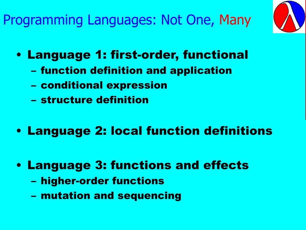 Programming Languages: Not One,