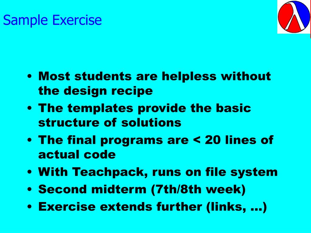 Sample Exercise