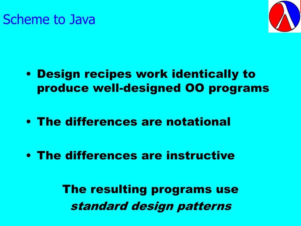 Scheme to Java