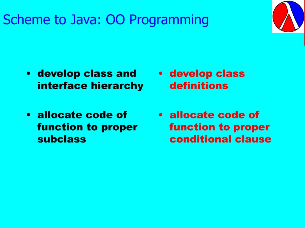 Scheme to Java: OO Programming