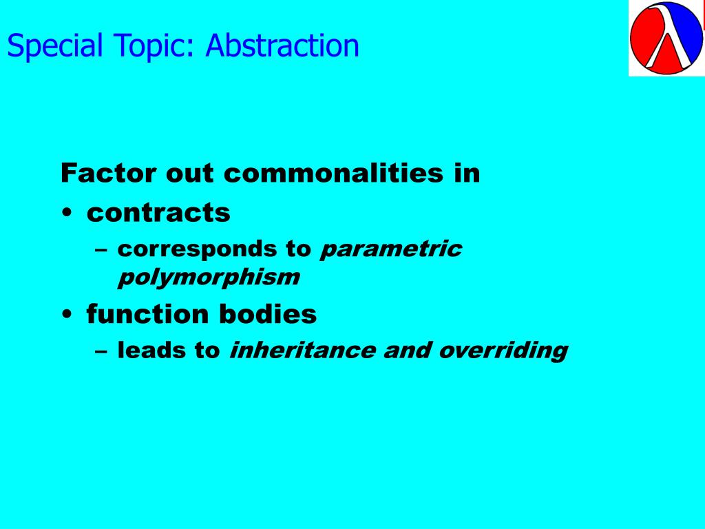 Special Topic: Abstraction