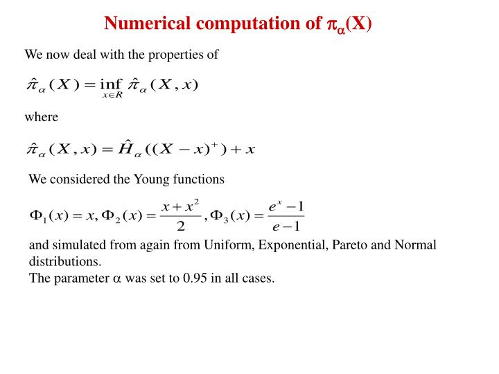 Numerical computation of