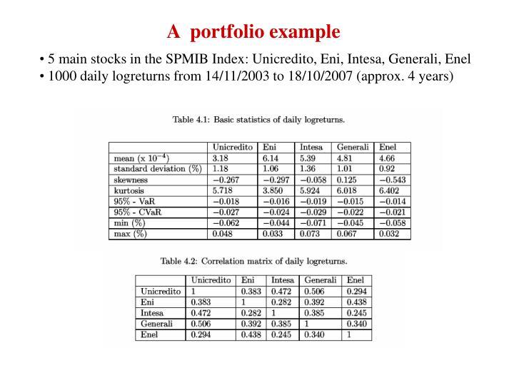 A  portfolio example