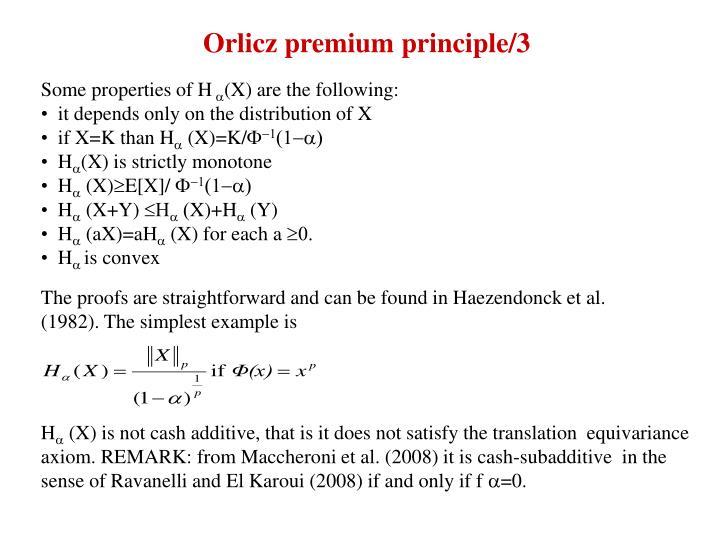 Orlicz premium principle/3