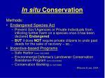 in situ conservation42