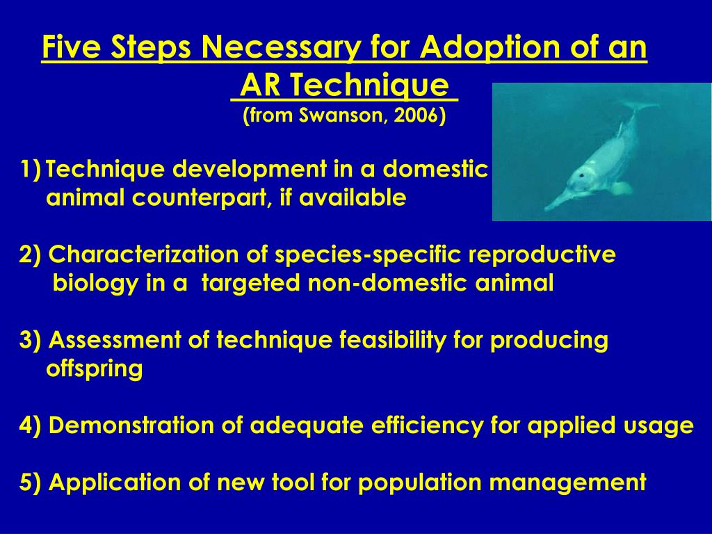 Five Steps Necessary for Adoption of an