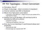 rf rx topologies direct conversion
