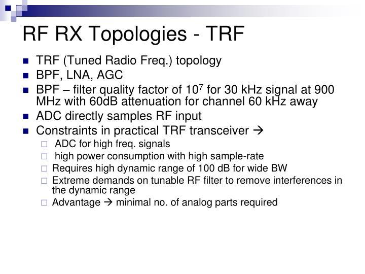 RF RX Topologies - TRF