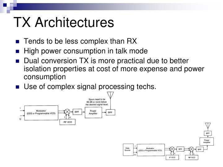 TX Architectures